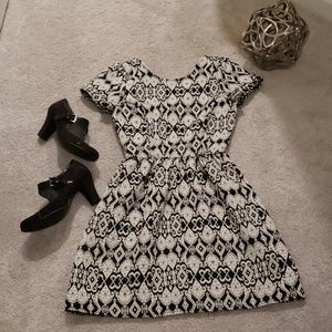 Black, White and Gray Dress